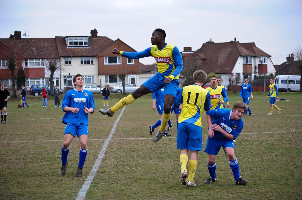 Toib Olomowewe playing football